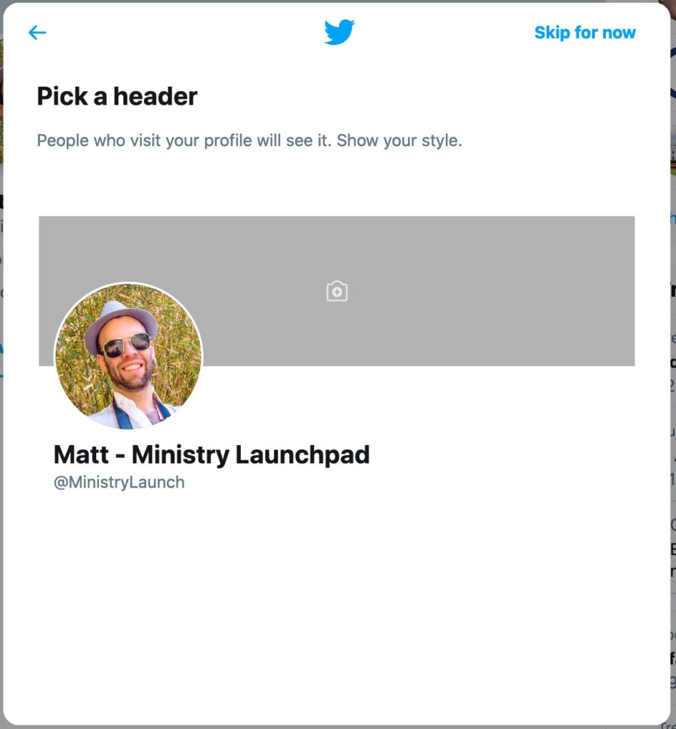 Twitter Pick a Header